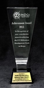 MILLENNIUM DEVELOPMENT GOAL Award