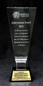 MILLENNIUM DEVELOPMENT GOAL Award